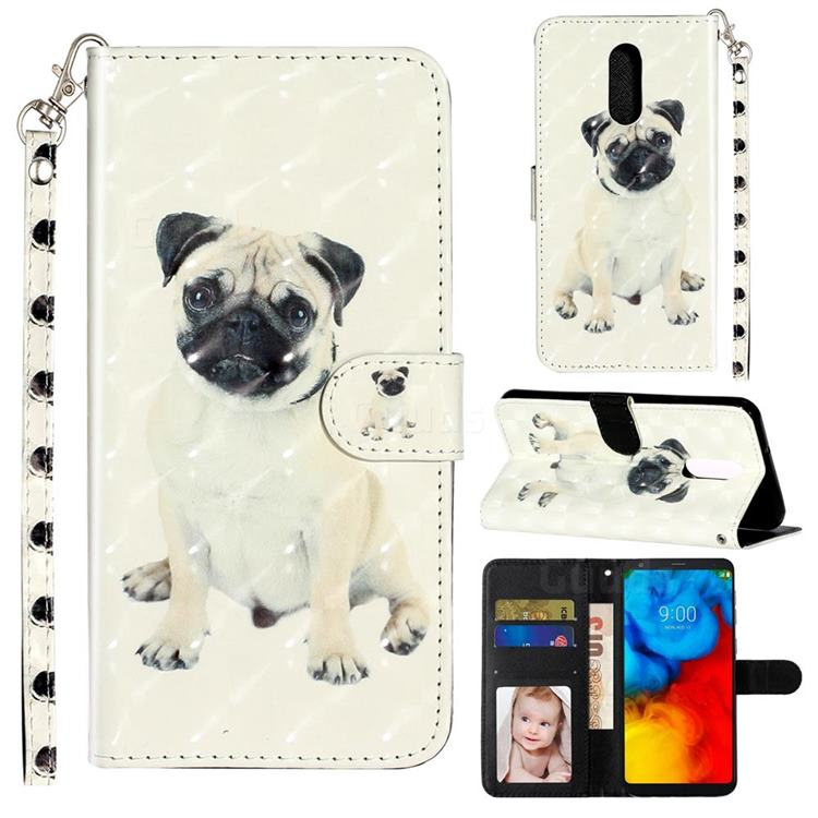 Pug Dog 3D Leather Phone Holster Wallet Case for LG Stylo 5