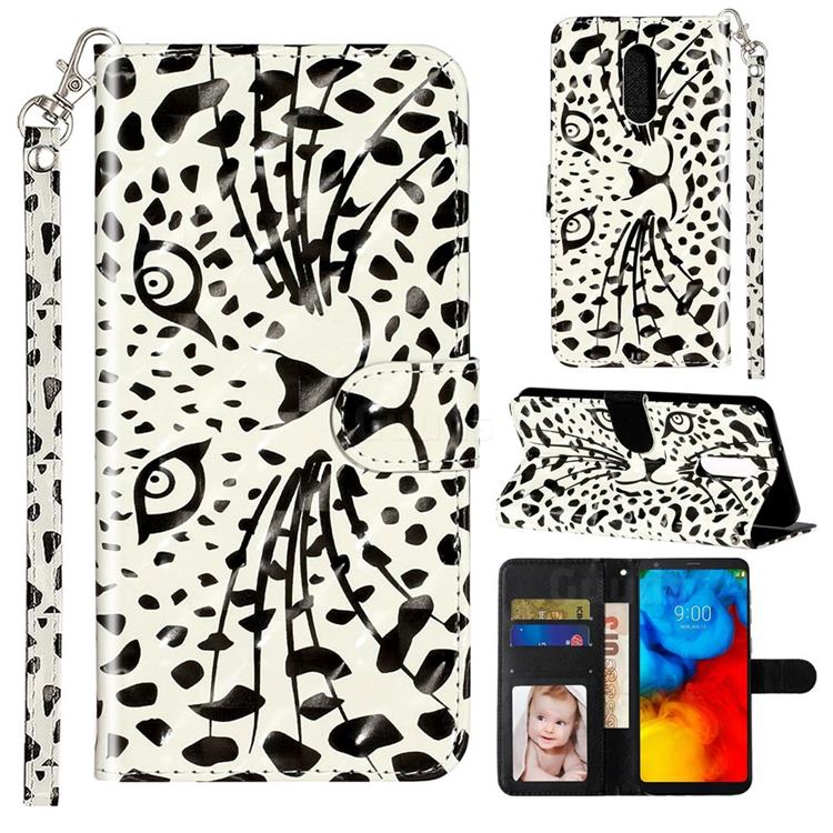 Leopard Panther 3D Leather Phone Holster Wallet Case for LG Stylo 5