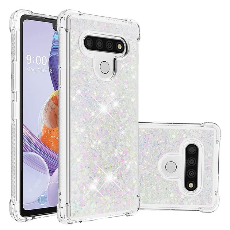 Dynamic Liquid Glitter Sand Quicksand Star TPU Case for LG Stylo 6 - Pink