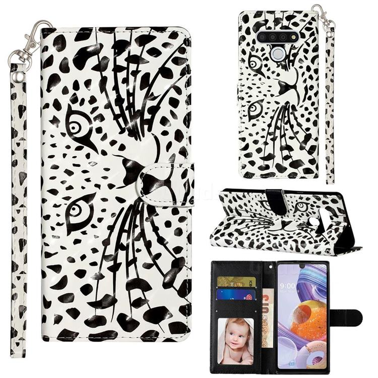 Leopard Panther 3D Leather Phone Holster Wallet Case for LG Stylo 6