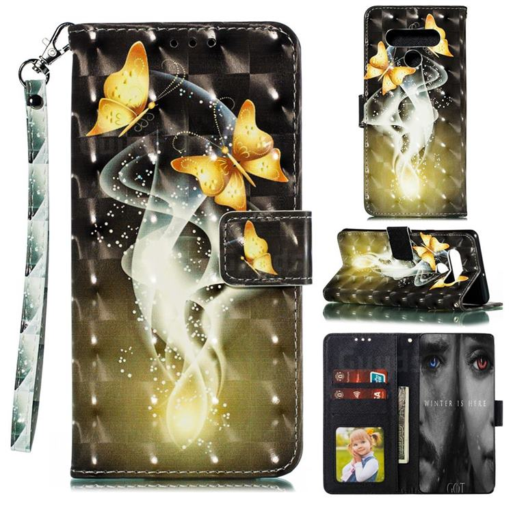 Dream Butterfly 3D Painted Leather Phone Wallet Case for LG Stylo 6