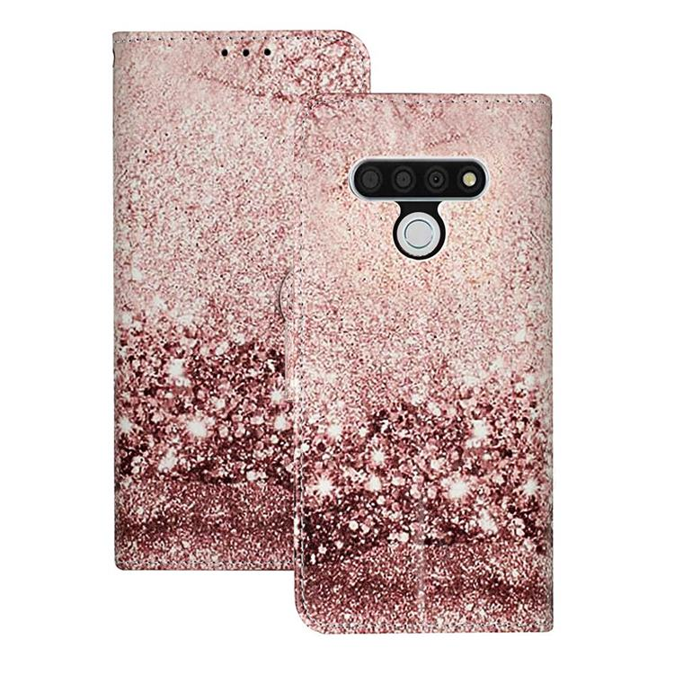 Glittering Rose Gold PU Leather Wallet Case for LG Stylo 6