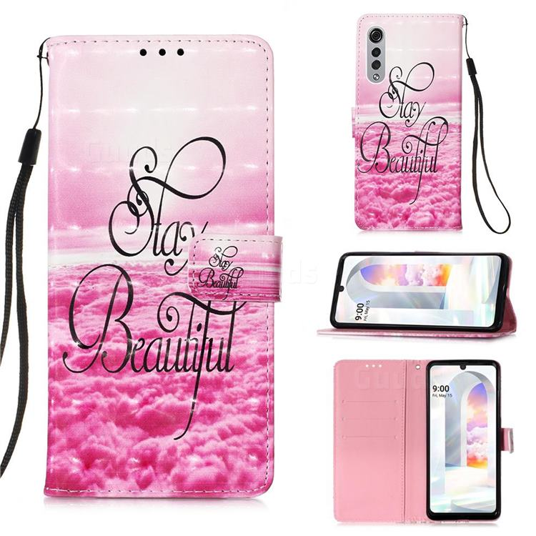 Beautiful 3D Painted Leather Wallet Case for LG Velvet 5G (LG G9 G900)