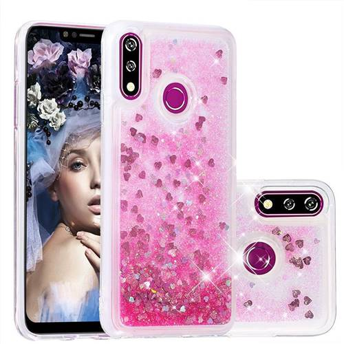 Dynamic Liquid Glitter Quicksand Sequins TPU Phone Case for LG W10 - Rose