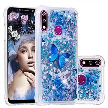 Flower Butterfly Dynamic Liquid Glitter Sand Quicksand Star TPU Case for LG W10