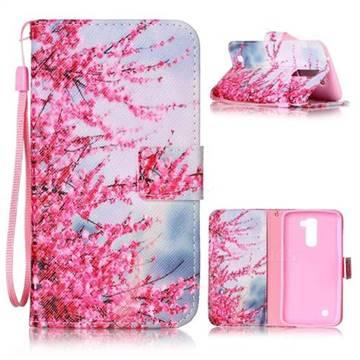 Plum Flower Leather Wallet Phone Case for LG K10