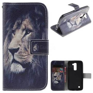 Lion Face PU Leather Wallet Case for LG K10 K420N K430DS K430DSF K430DSY