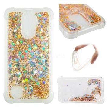 Dynamic Liquid Glitter Sand Quicksand Star TPU Case for LG K10 2017 - Diamond Gold