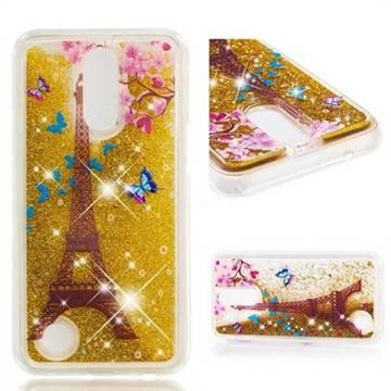 Dynamic Liquid Glitter Quicksand Soft TPU Case for LG K10 2017 - Golden Tower