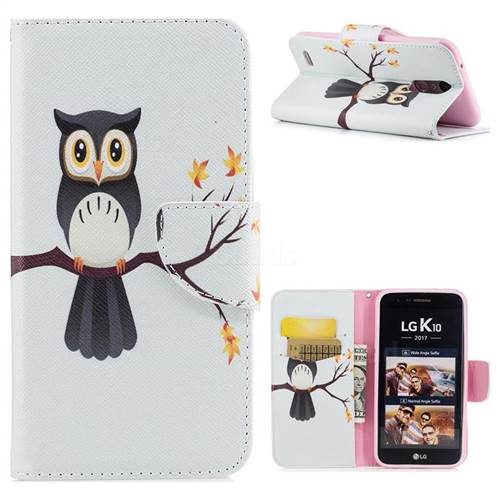 Owl on Tree Leather Wallet Case for LG K10 2017