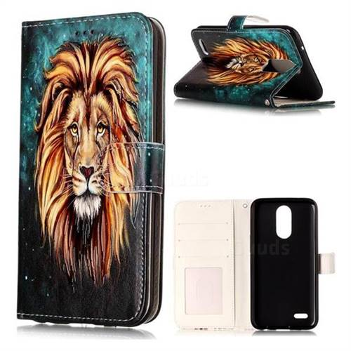 Ice Lion 3D Relief Oil PU Leather Wallet Case for LG K10 2017