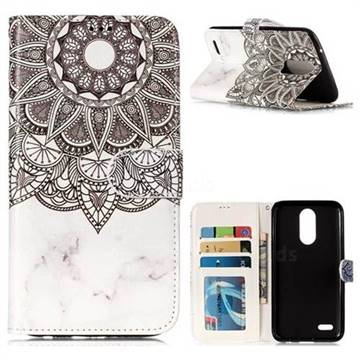 Marble Mandala 3D Relief Oil PU Leather Wallet Case for LG K10 2017