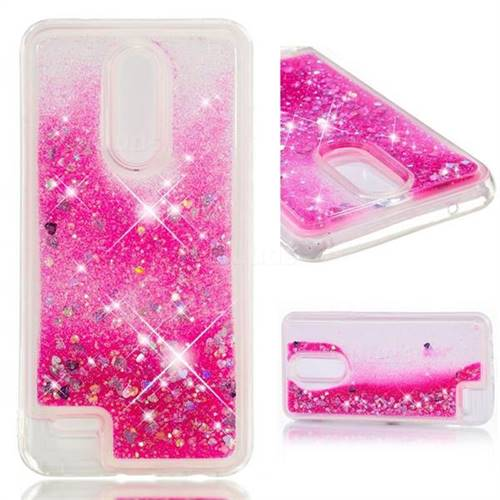 Dynamic Liquid Glitter Quicksand Sequins TPU Phone Case for LG K10 (2018) - Rose