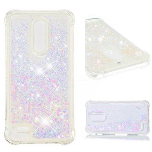 Dynamic Liquid Glitter Sand Quicksand Star TPU Case for LG K10 (2018) - Pink