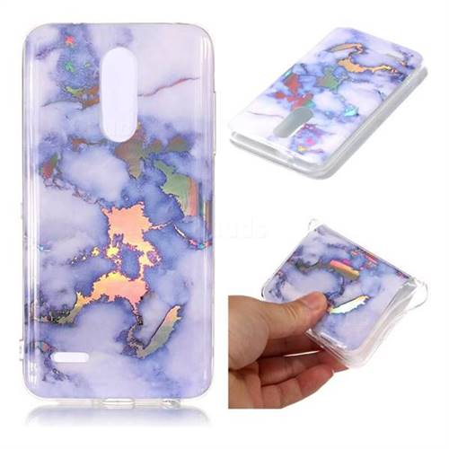 Blue Marble Pattern Bright Color Laser Soft TPU Case for LG K10 (2018)