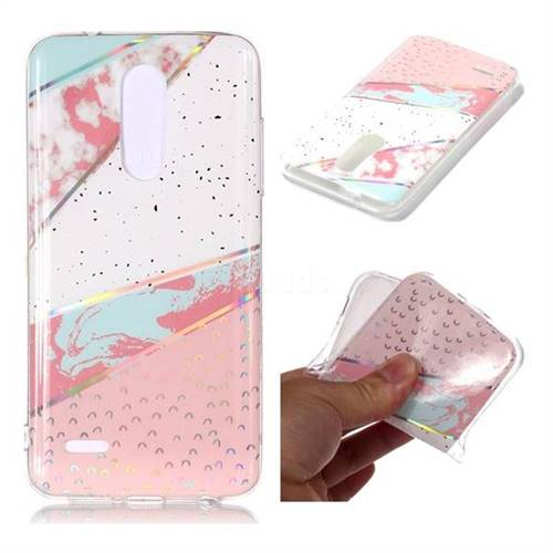 Matching Color Marble Pattern Bright Color Laser Soft TPU Case for LG K10 (2018)