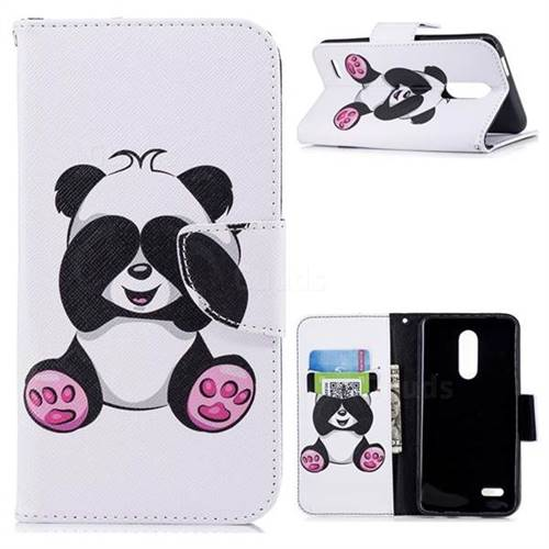 Lovely Panda Leather Wallet Case for LG K10 (2018)