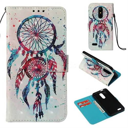 ColorDrops Wind Chimes 3D Painted Leather Wallet Case for LG K10 (2018)