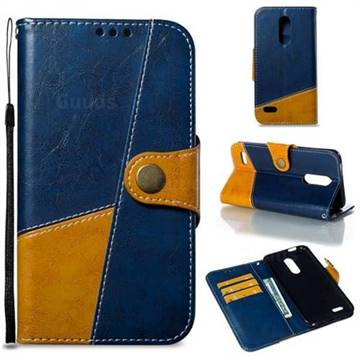 Retro Magnetic Stitching Wallet Flip Cover for LG K10 (2018) - Blue