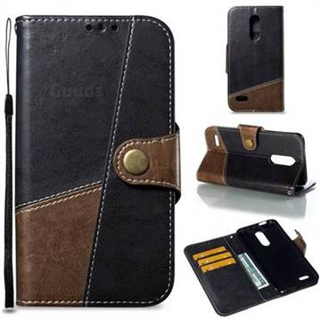 Retro Magnetic Stitching Wallet Flip Cover for LG K10 (2018) - Dark Gray