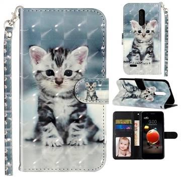 Kitten Cat 3D Leather Phone Holster Wallet Case for LG K10 (2018)