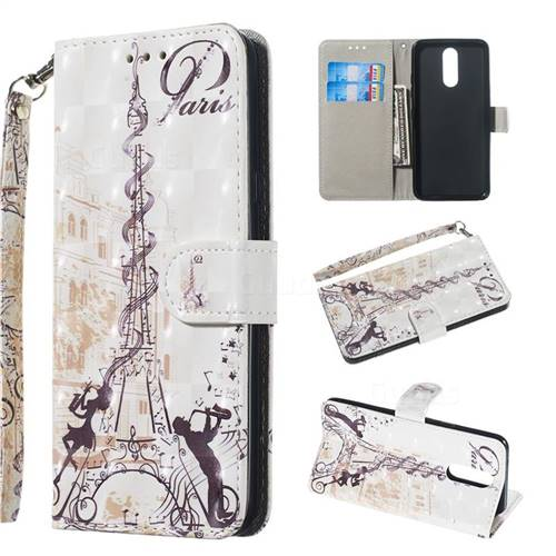 Tower Couple 3D Painted Leather Wallet Phone Case for LG K40 (LG K12+, LG K12 Plus)