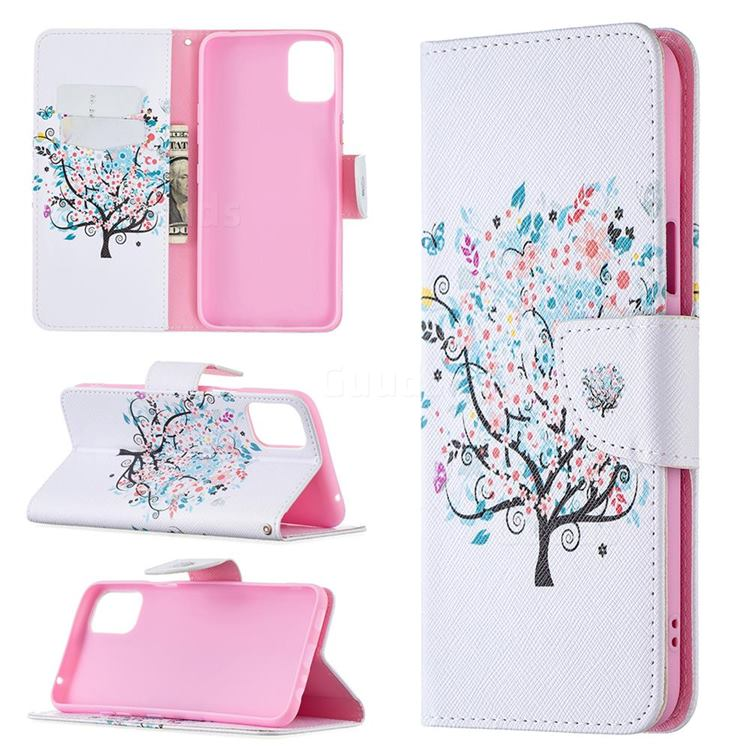 Colorful Tree Leather Wallet Case for LG K42