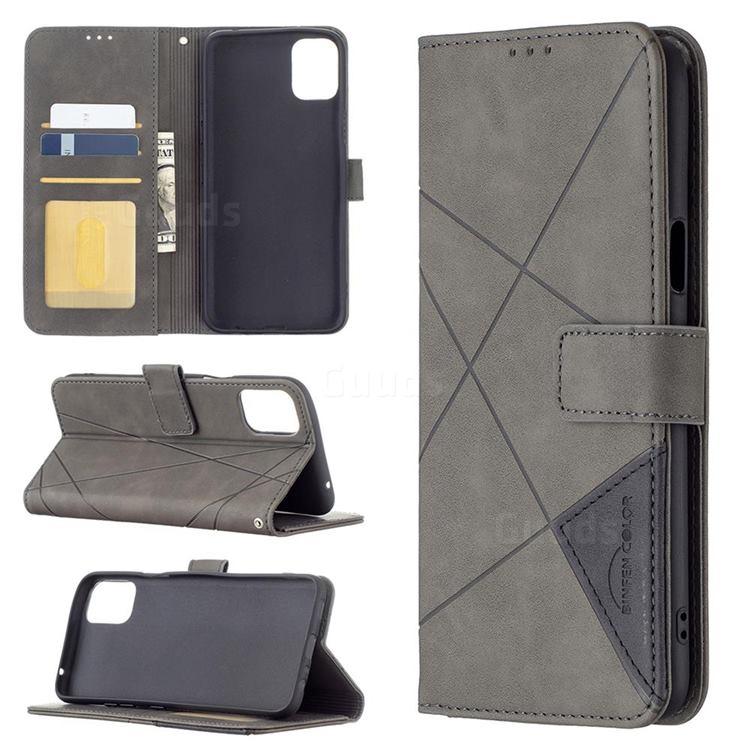Binfen Color BF05 Prismatic Slim Wallet Flip Cover for LG K42 - Gray