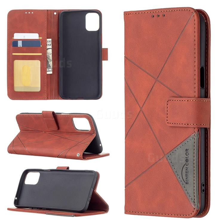 Binfen Color BF05 Prismatic Slim Wallet Flip Cover for LG K42 - Brown