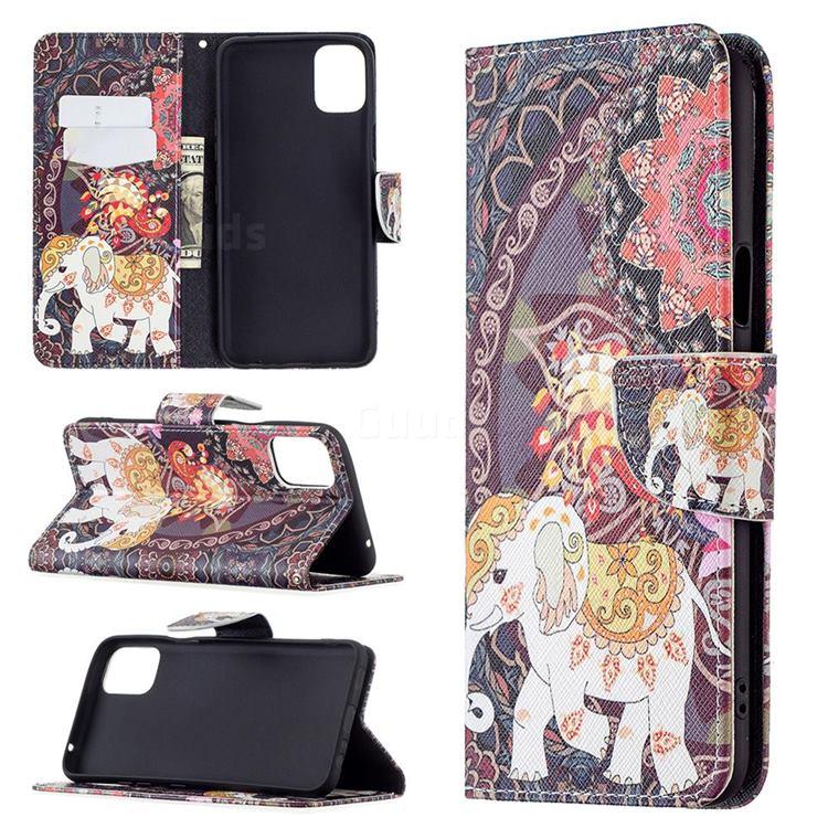 Totem Flower Elephant Leather Wallet Case for LG K42