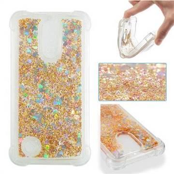 Dynamic Liquid Glitter Sand Quicksand Star TPU Case for LG K4 (2017) M160 Phoenix3 Fortune - Diamond Gold