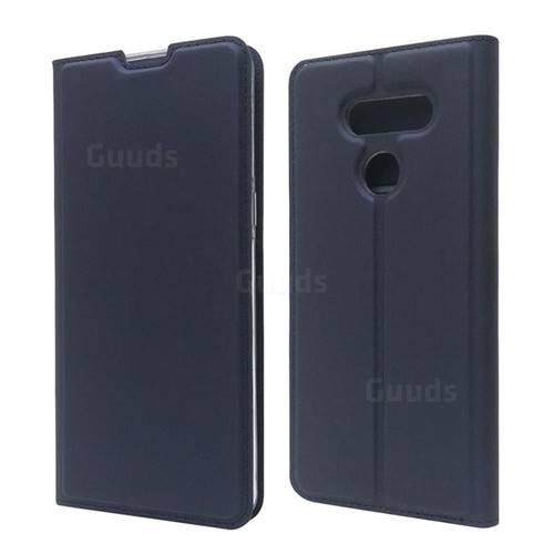 Ultra Slim Card Magnetic Automatic Suction Leather Wallet Case for LG K50S - Royal Blue