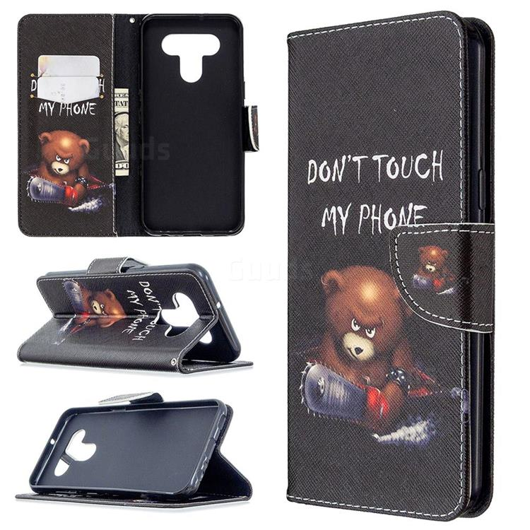Chainsaw Bear Leather Wallet Case for LG K51
