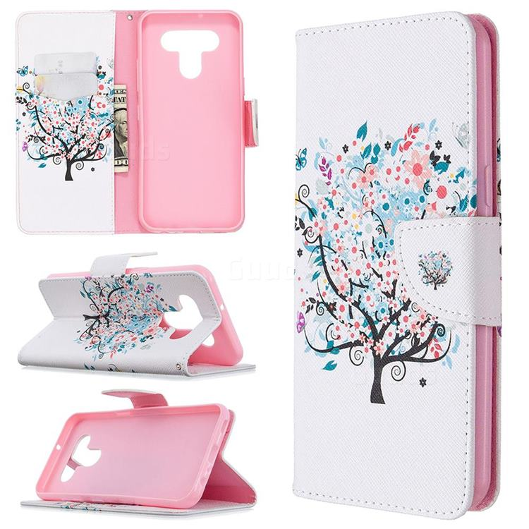 Colorful Tree Leather Wallet Case for LG K51