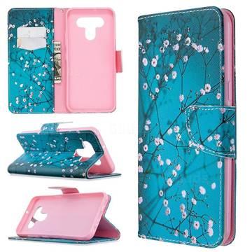 Blue Plum Leather Wallet Case for LG K51