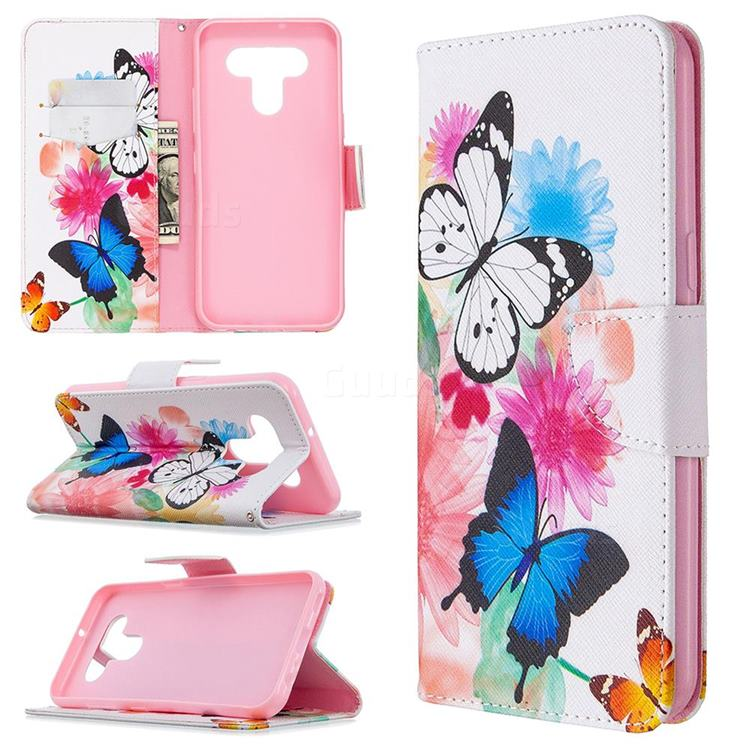 Vivid Flying Butterflies Leather Wallet Case for LG K51