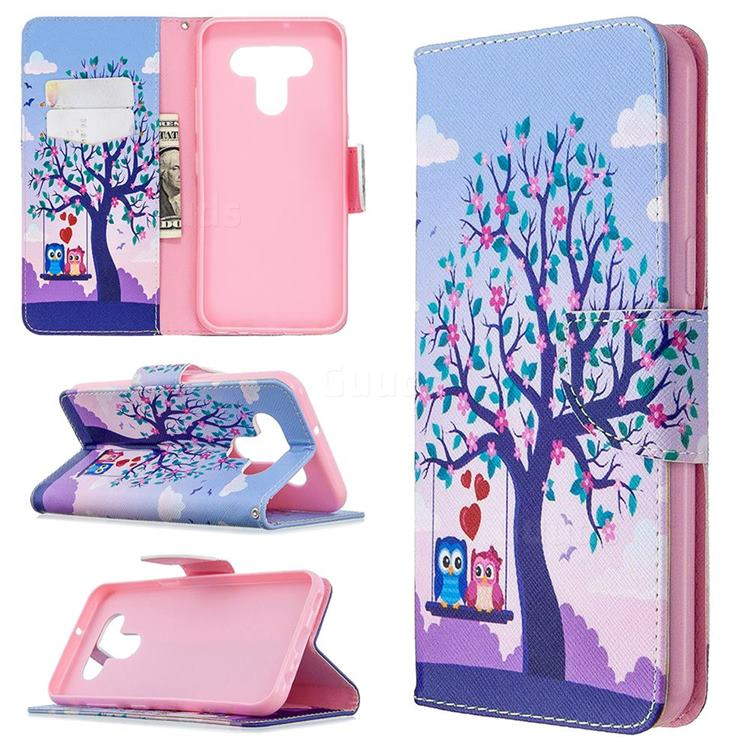 Tree and Owls Leather Wallet Case for LG K51