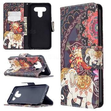 Totem Flower Elephant Leather Wallet Case for LG K51