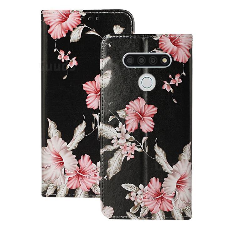 Azalea Flower PU Leather Wallet Case for LG K51