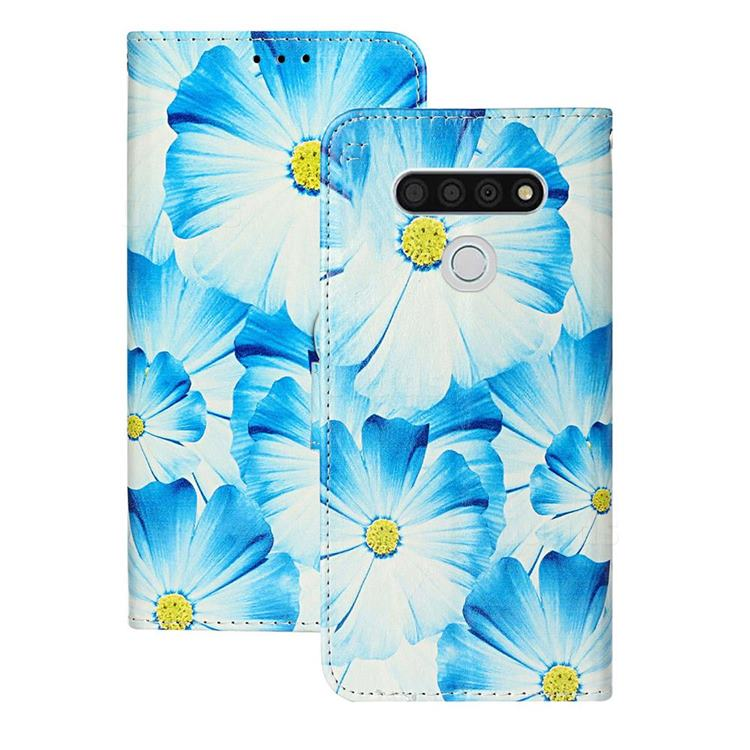 Orchid Flower PU Leather Wallet Case for LG K51