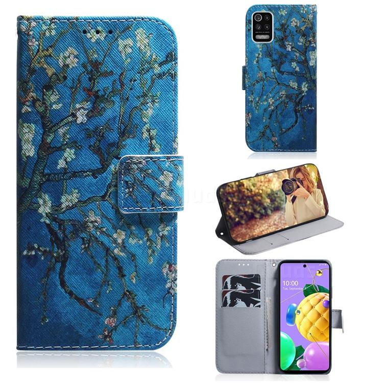 Apricot Tree PU Leather Wallet Case for LG K52 K62 Q52