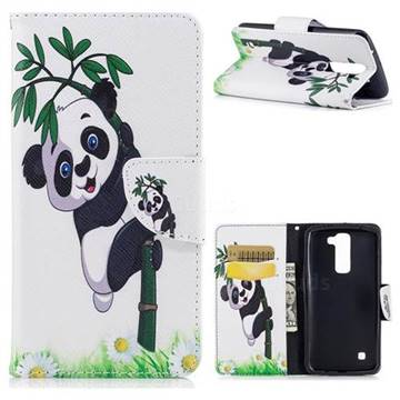 Bamboo Panda Leather Wallet Case for LG K7