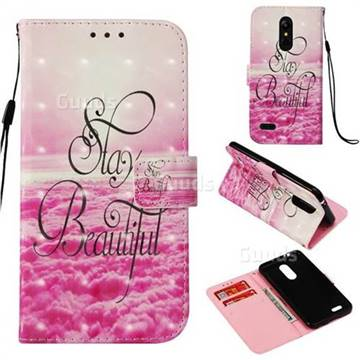 Beautiful 3D Painted Leather Wallet Case for LG K8