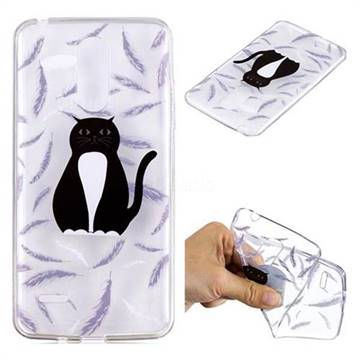 Feather Black Cat Super Clear Soft TPU Back Cover for LG K8 2017 M200N EU Version (5.0 inch)