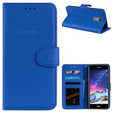 Litchi Pattern PU Holster Leather Wallet Case for LG K8 2017 M200N EU Version (5.0 inch) - Blue