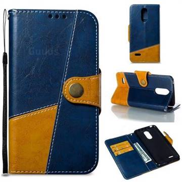 Retro Magnetic Stitching Wallet Flip Cover for LG K8 2017 M200N EU Version (5.0 inch) - Blue