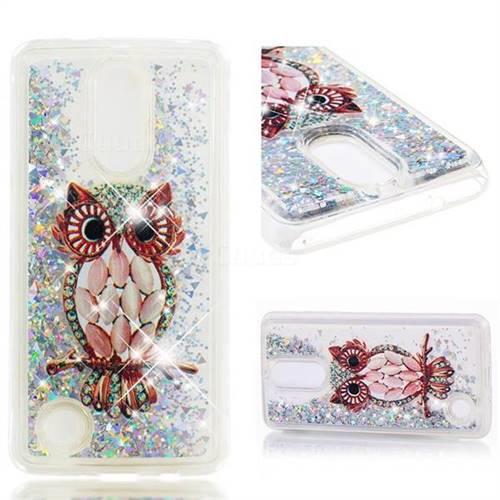 Dynamic Liquid Glitter Quicksand Soft TPU Case for LG K8 2017 US215 American version LV3 MS210 - Seashell Owl