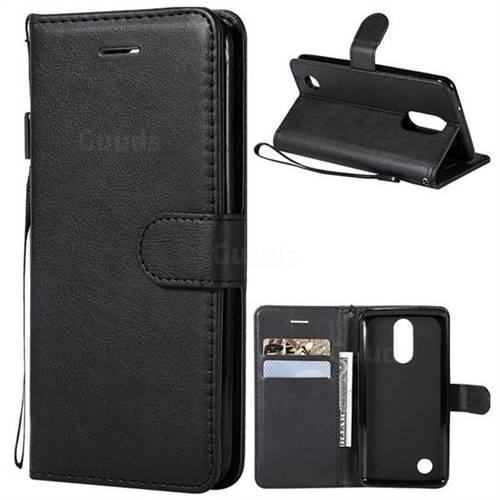 Retro Greek Classic Smooth PU Leather Wallet Phone Case for LG K8 2017 US215 American version LV3 MS210 - Black