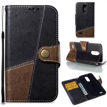 Retro Magnetic Stitching Wallet Flip Cover for LG K8 2017 US215 American version LV3 MS210 - Dark Gray