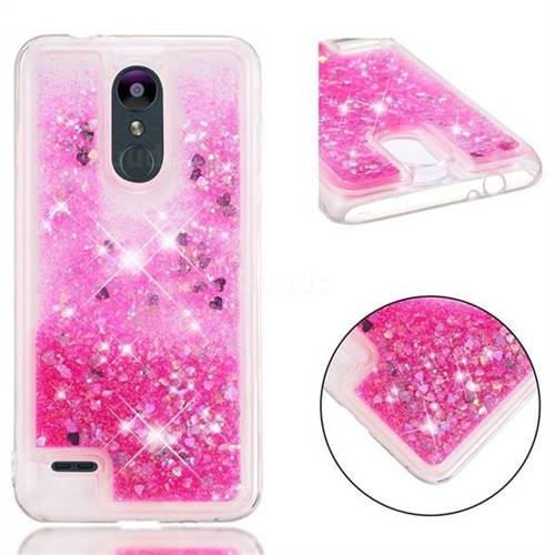 online store b5805 83bba Dynamic Liquid Glitter Quicksand Sequins TPU Phone Case for LG K8 (2018) /  LG K9 - Rose